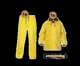 Hydrowear Regenkleding set  simply no sweat Geel ( Basic pakket)