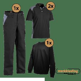 Blaklader kledingpakket industry zwart met grijs (Basic pakket)