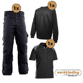Blaklader kledingpakket worker zwart met grijs (instappakket)
