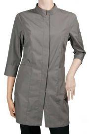 Chaud Devant Dames Stone stretch sleeve serveerjas