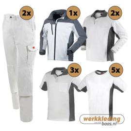 Kledingpakket Workman Afbouw wit met grijs (Luxe pakket)