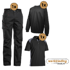 Blaklader kledingpakket service zwart met grijs (instappakket)