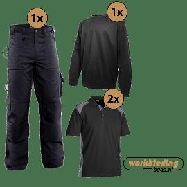 Blaklader kledingpakket worker zwart met grijs (Basic pakket)