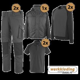 Kledingpakket Mascot Unique grijs met zwart (Luxe pakket)