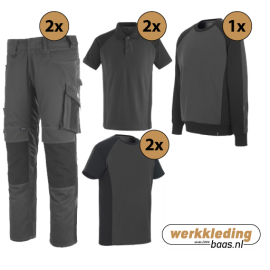 Kledingpakket Mascot Unique grijs met zwart (uitgebreid pakket)