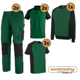 Kledingpakket Mascot Unique Groen met Zwart (uitgebreid pakket)