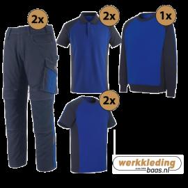 Kledingpakket Mascot Unique korenblauw met navy (uitgebreid pakket)