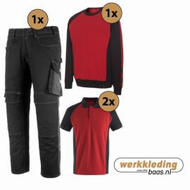 Kledingpakket Mascot Unique Rood met Zwart (Basic pakket)