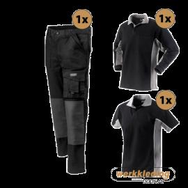 Kledingpakket Workman Worker zwart met grijs (Basic pakket)