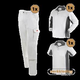 Kledingpakket Workman Afbouw wit met grijs (Basic pakket)