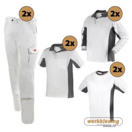 Kledingpakket Workman Afbouw wit met grijs (uitgebreid pakket)