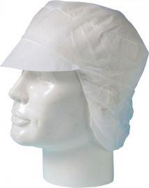 Majestic haarnetpetje met klep voor lang haar