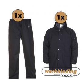 Regenkleding set Hydrowear simply no sweat Black ( Basic pakket)