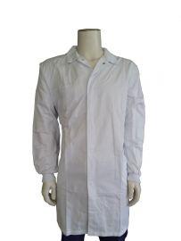 Boss polyester/katoenen Food stofjas met tricot manchetten