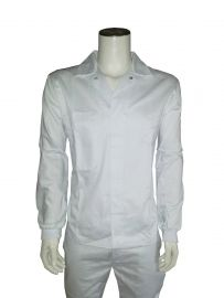 Boss polyester/katoenen Food jas met tricot manchetten